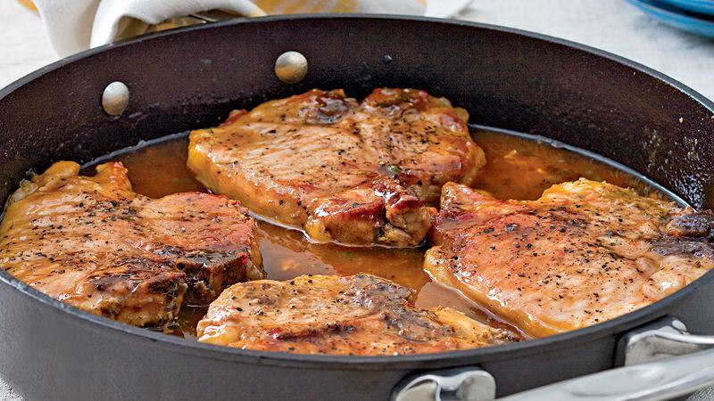 Χοιρινές μπριζόλες στο φούρνο
