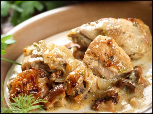 Κοτόπουλο με σάλτσα βερίκοκο