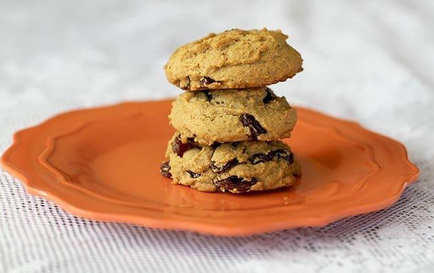Μπισκότα (cookies) με βρώμη σταφίδες