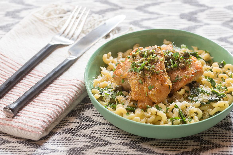 Κοτόπουλο με λεμόνι (piccata)