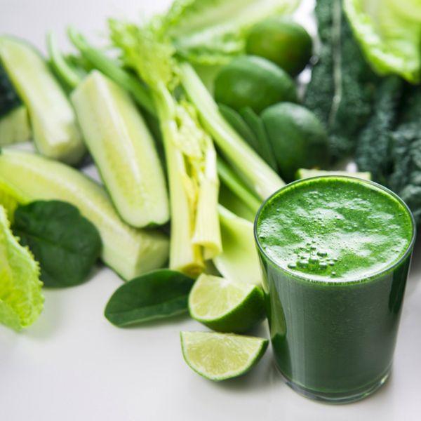 Πράσινος χυμός με αγγούρι, μέντα