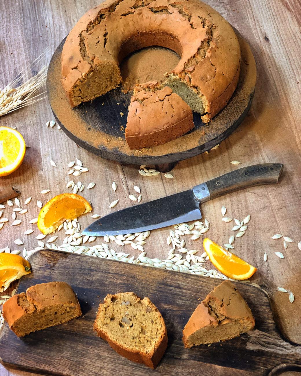 Κέικ πορτοκαλιού με ταχίνι