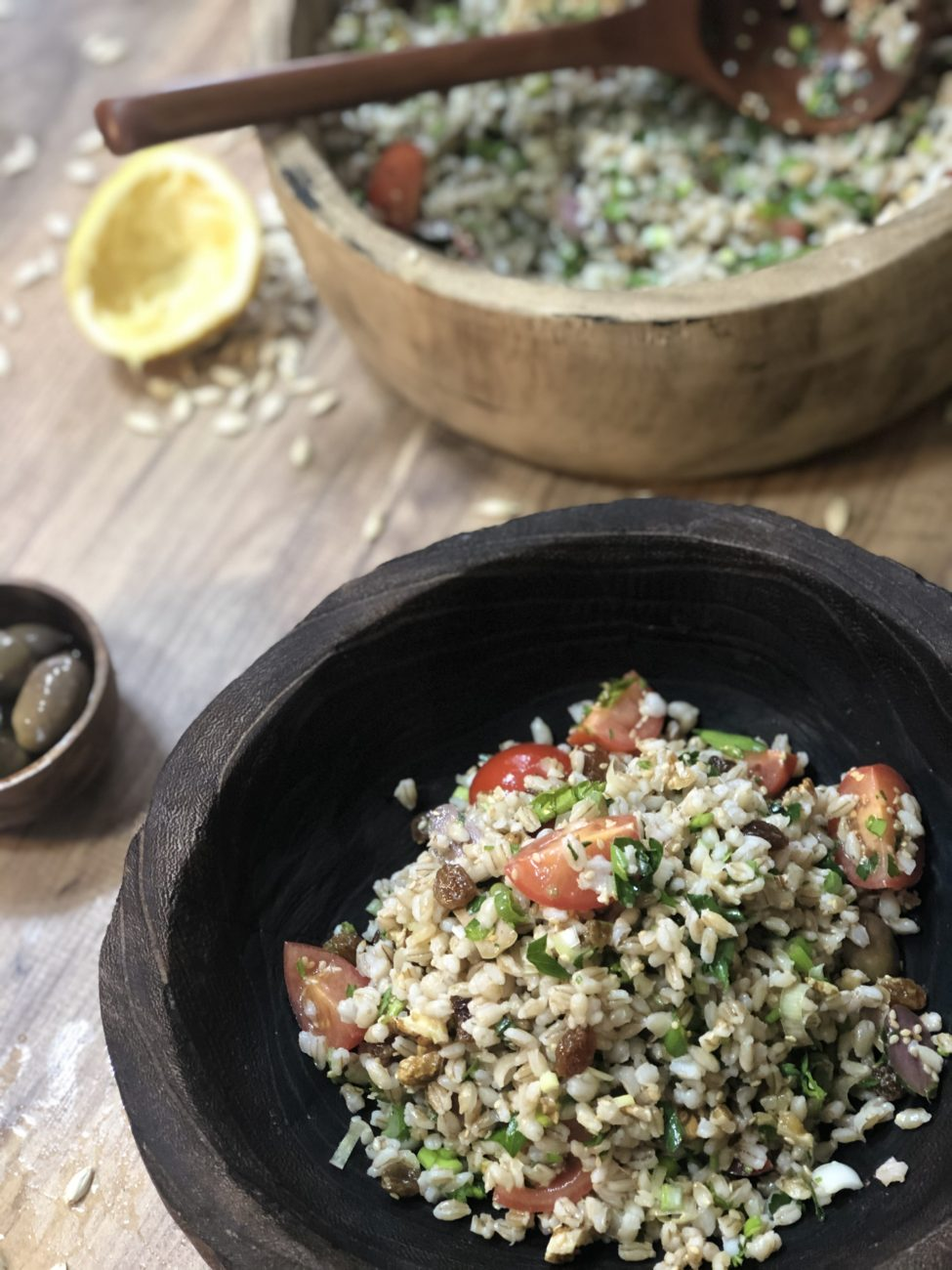 Μεσογειακή σαλάτα με πτισάνη