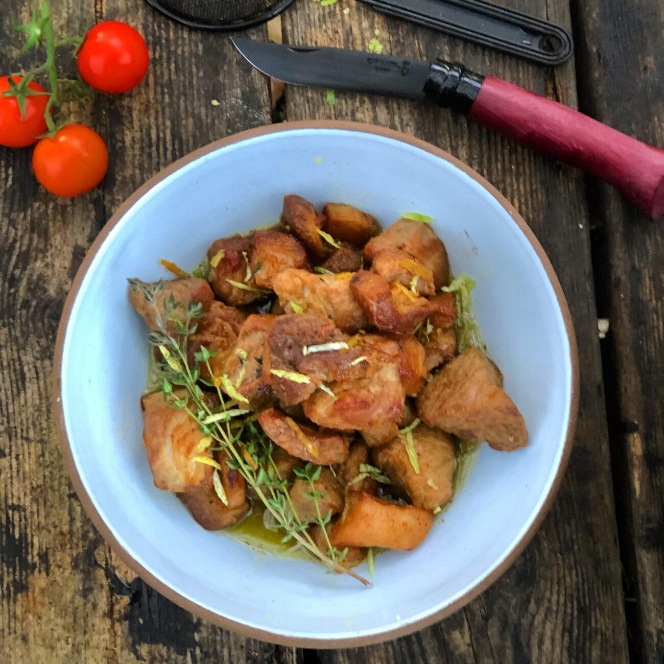 Φουκάκι (Κρητική παραδοσιακή χοιρινή τηγανιά)
